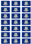 Connecticut Flag Stickers - 21 per sheet